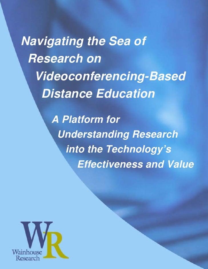WR Paper: Navigating Research on Videoconferencing based ...
