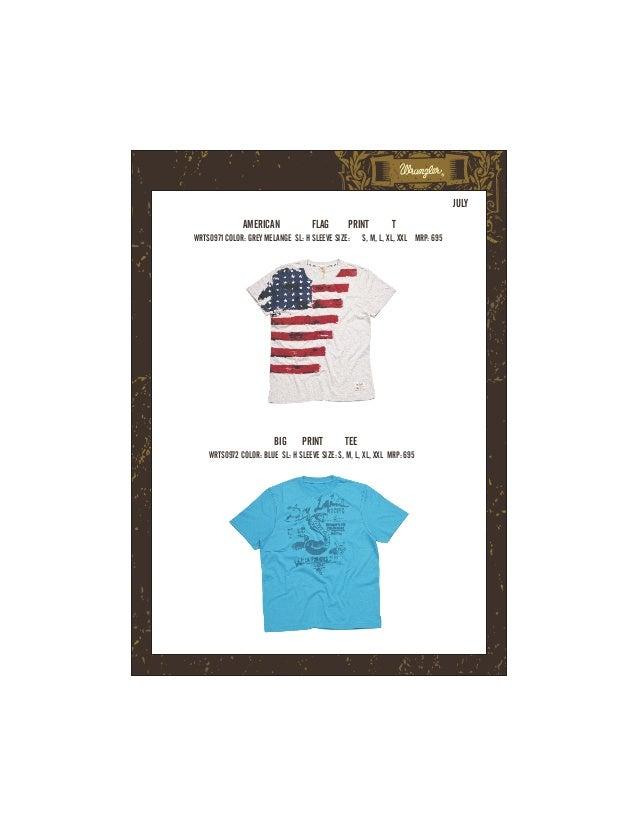 JULY              AMERICAN              FLAG       PRINT          TWRTS0971 COLOR: GREY MELANGE SL: H SLEEVE SIZE:      S,...