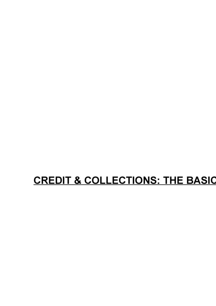 Credit Collections The Basics
