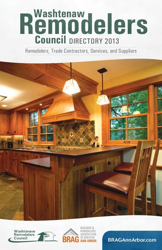 Directory 2013 Remodelers, Trade Contractors, Services, and Suppliers  Washtenaw Remodelers Council  BRAGAnnArbor.com