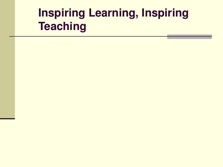 Inspiring Learning, Inspiring Teaching - Alan Mortiboys