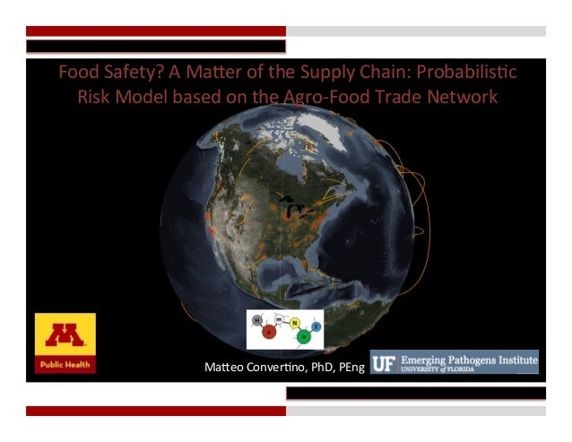 Food	   Safety?	   A	   Ma.er	   of	   the	   Supply	   Chain:	   Probabilis;c	    Risk	   Model	   based	   on	   the	...
