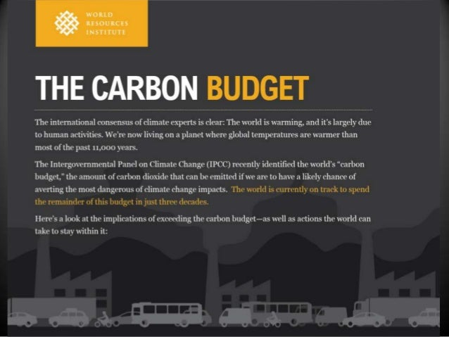 Infographic: The Global Carbon Budget