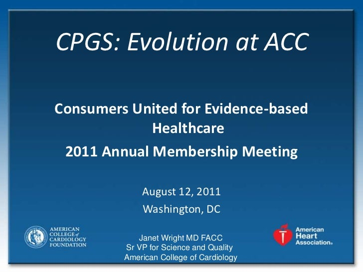 **Wright - Clinical Practice Guidelines Evolution at the American College of Cardiology