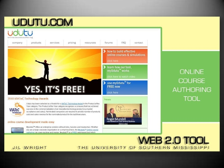 UDUTU Free Web 2.0 Course Authoring Tool