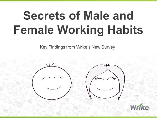 Secrets of Male and Female Working Habits