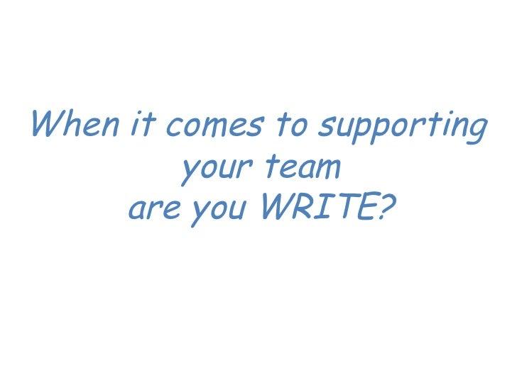 The WRITE model