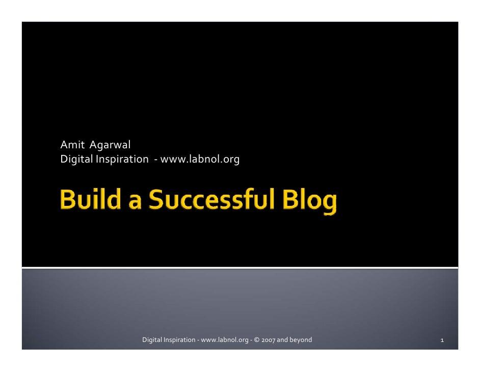 Write A Successful Blog