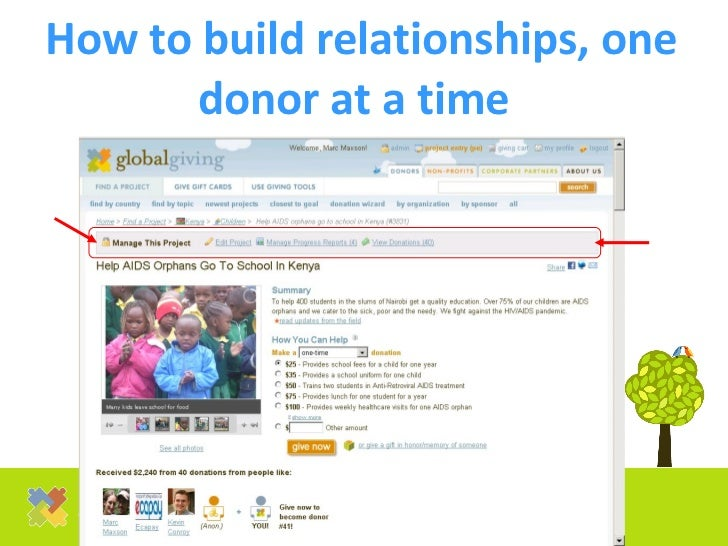 How to build relationships, one donor at a time
