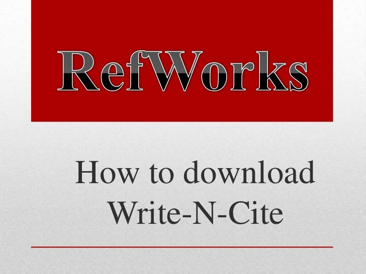 How to download Write-N-Cite