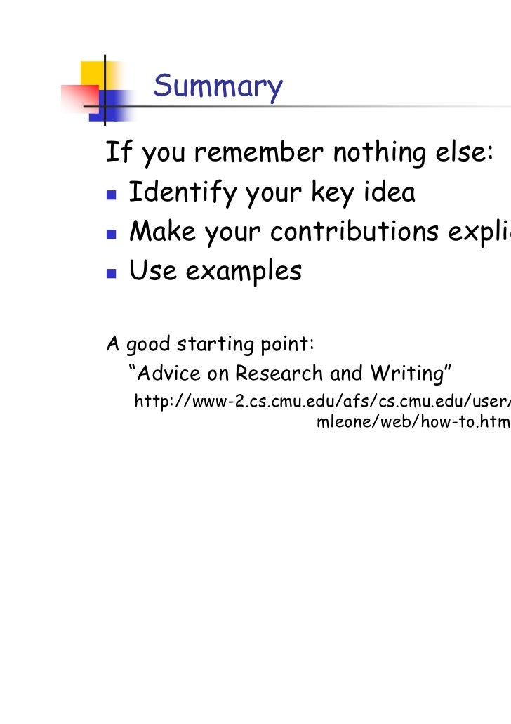 How to write a research paper power point