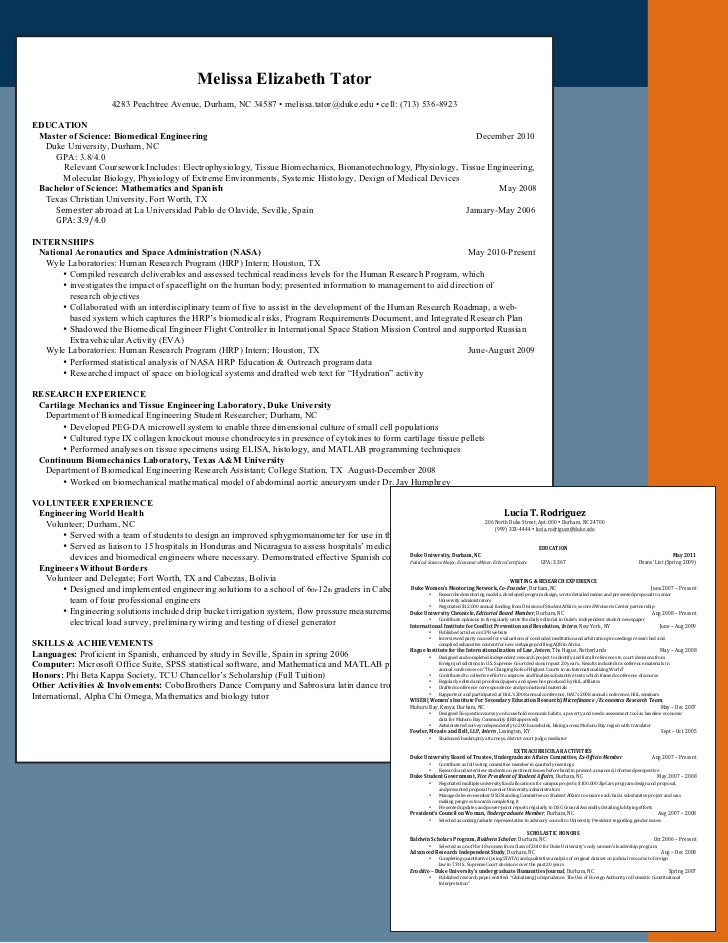 Coursework on resume example