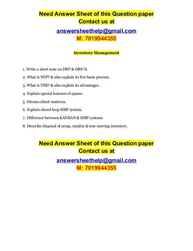 inventory management 2 essay