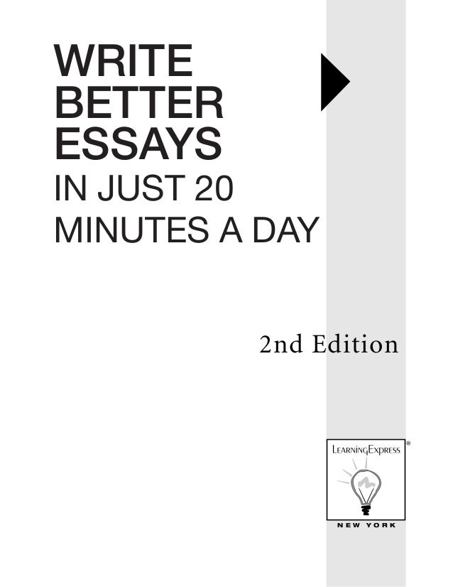 write better essays in just 20 minutes a day 2nd edition