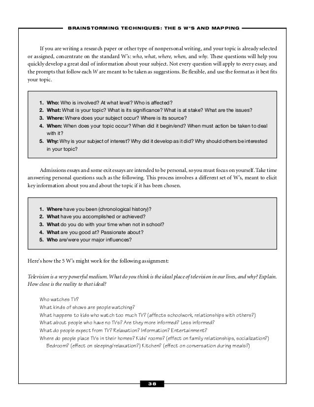 essay prompts and questions We consider essays to be a very important part of the application process, and  they are your opportunity to show the admissions committee a bit about yourself .