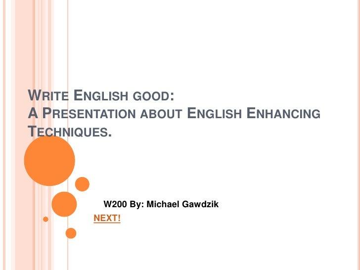 Write english good23
