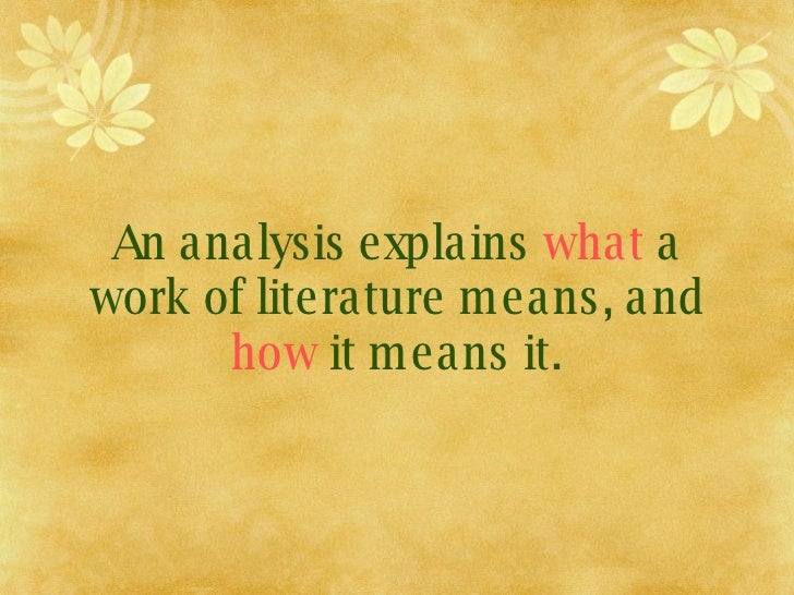 Can anyone write a literary analysis about anything?