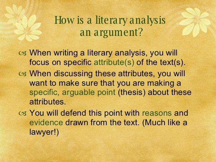 Help in writing a research paper literary analysis