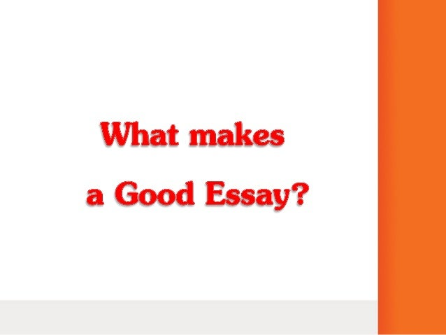 what makes a good neighborhood essay