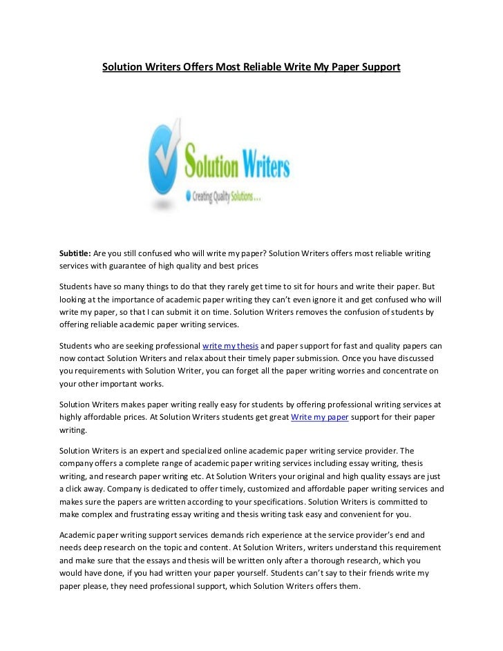 MyPaperWriter   Custom Term Paper Writing Service