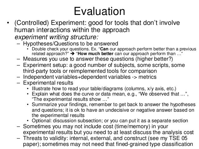 Writing an Evaluation Plan