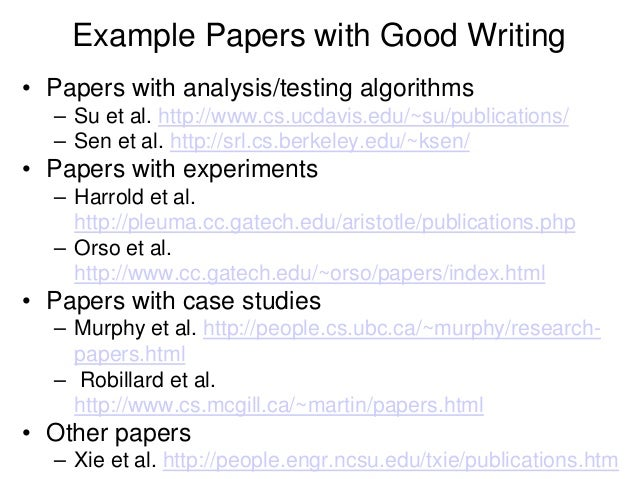 Write papers