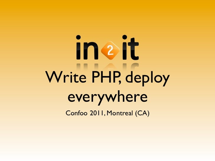 Write php deploy everywhere