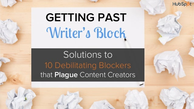 Getting Past Writer's Block