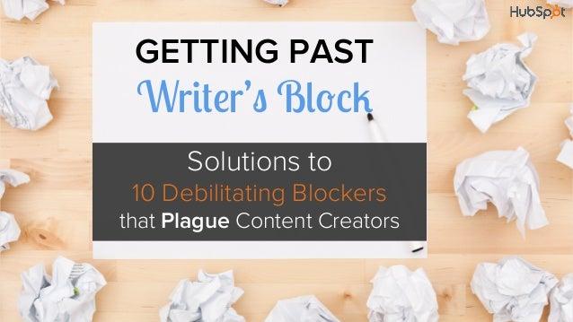 Getting Past Writer's Block