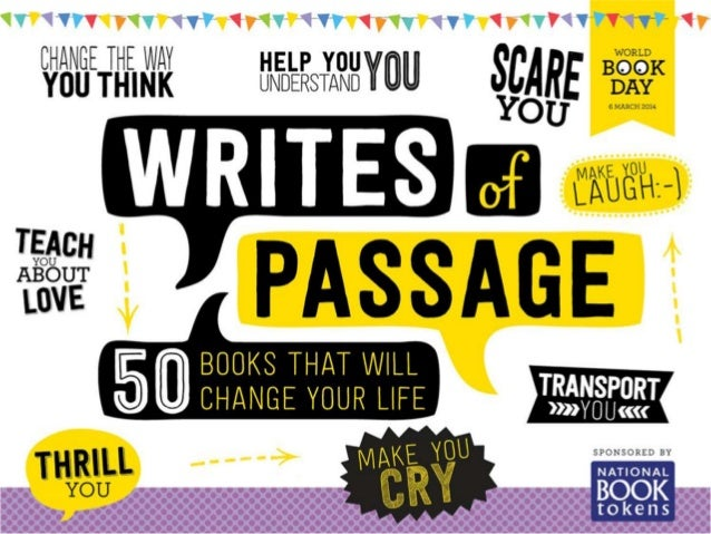 Which title did each member of staff choose as their 'Writes of Passage' book?