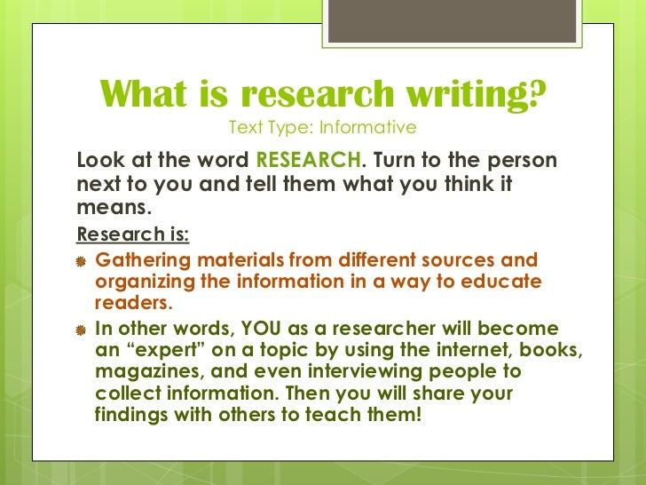 different type of sources for research paper