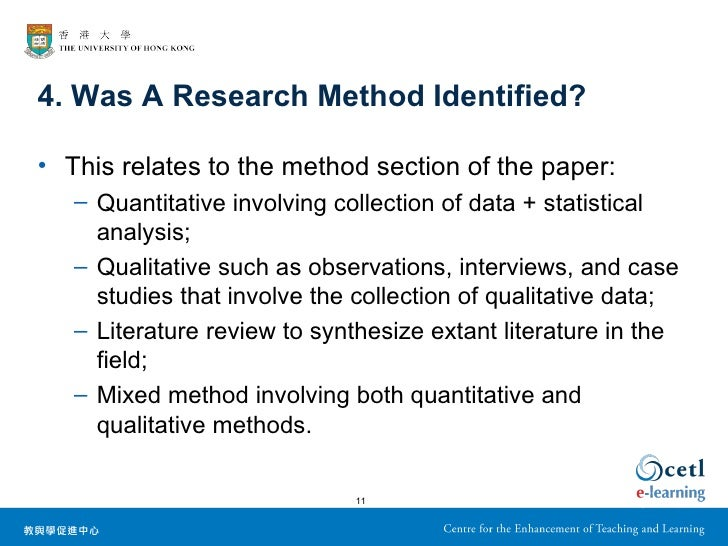 Research paper services methods section