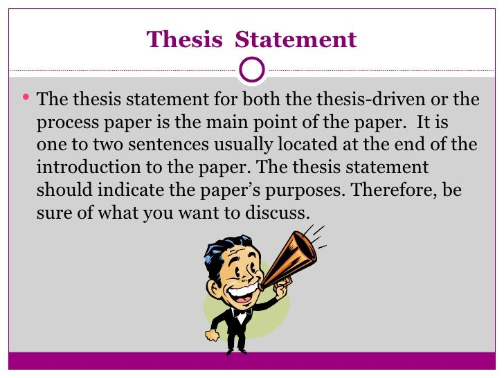 how to write a paper with a thesis