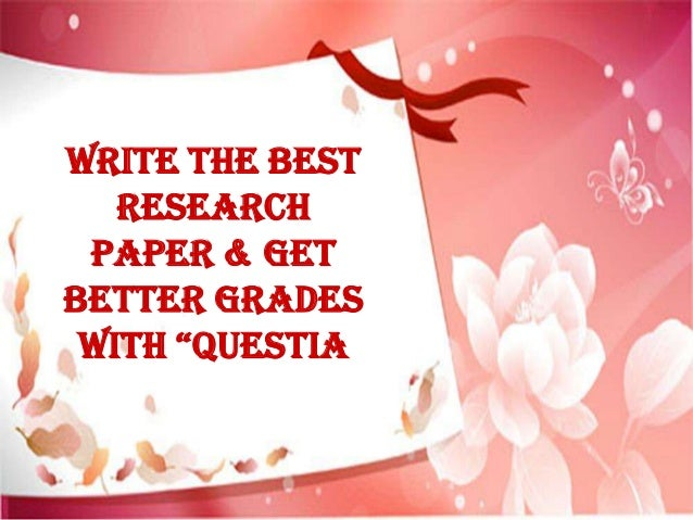 """Write the Best Research Paper & Get Better Grades with """"Questia"""