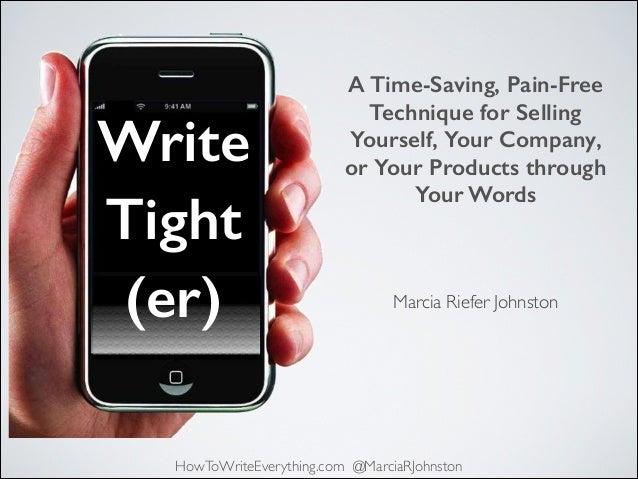 Write Tight(er) 12-01-2013