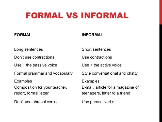 types of essay formal and informal