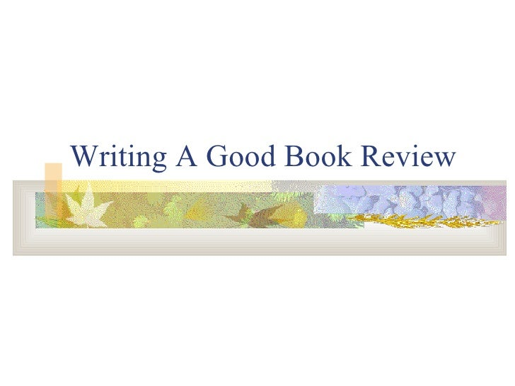 an essay on a book review