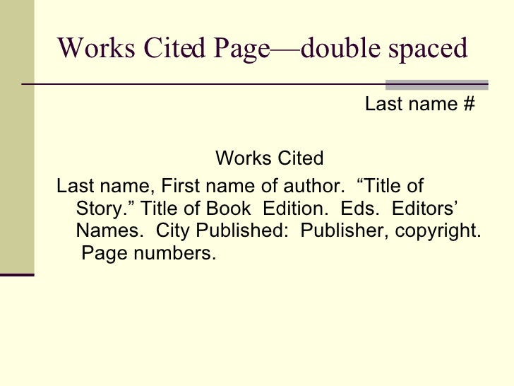 How to Do the Works Cited Page on a Research Paper