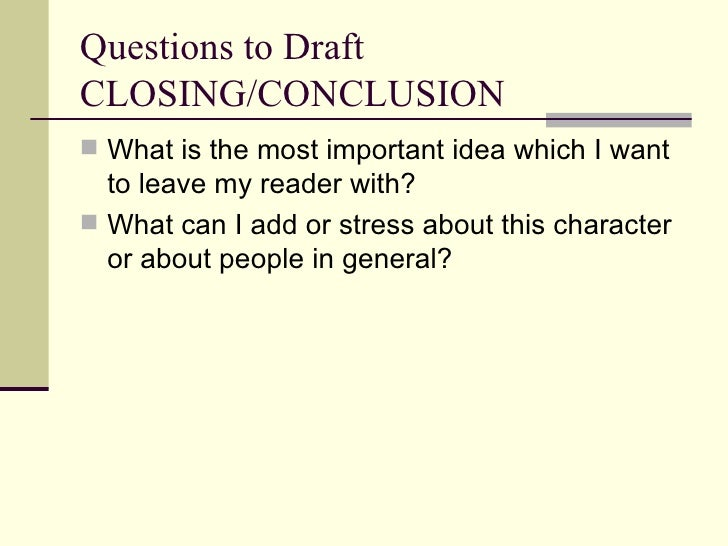 Conclusion in analysis essay