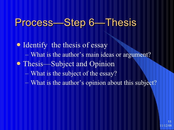 what is an authors thesis