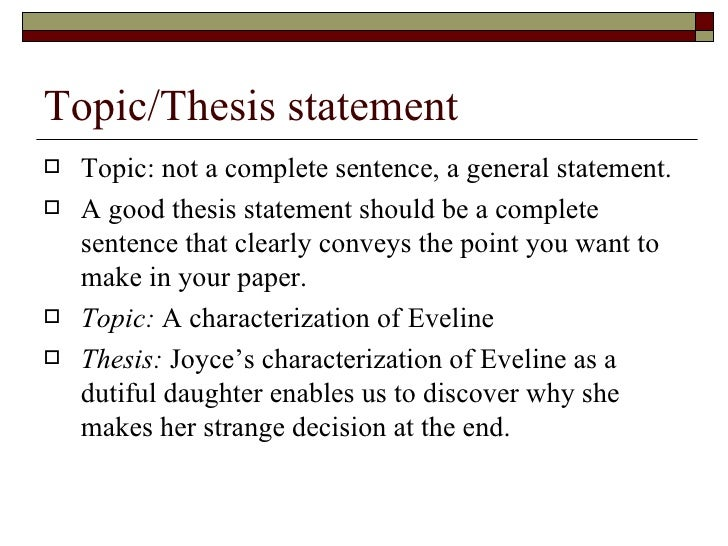 thesis statement complete sentence