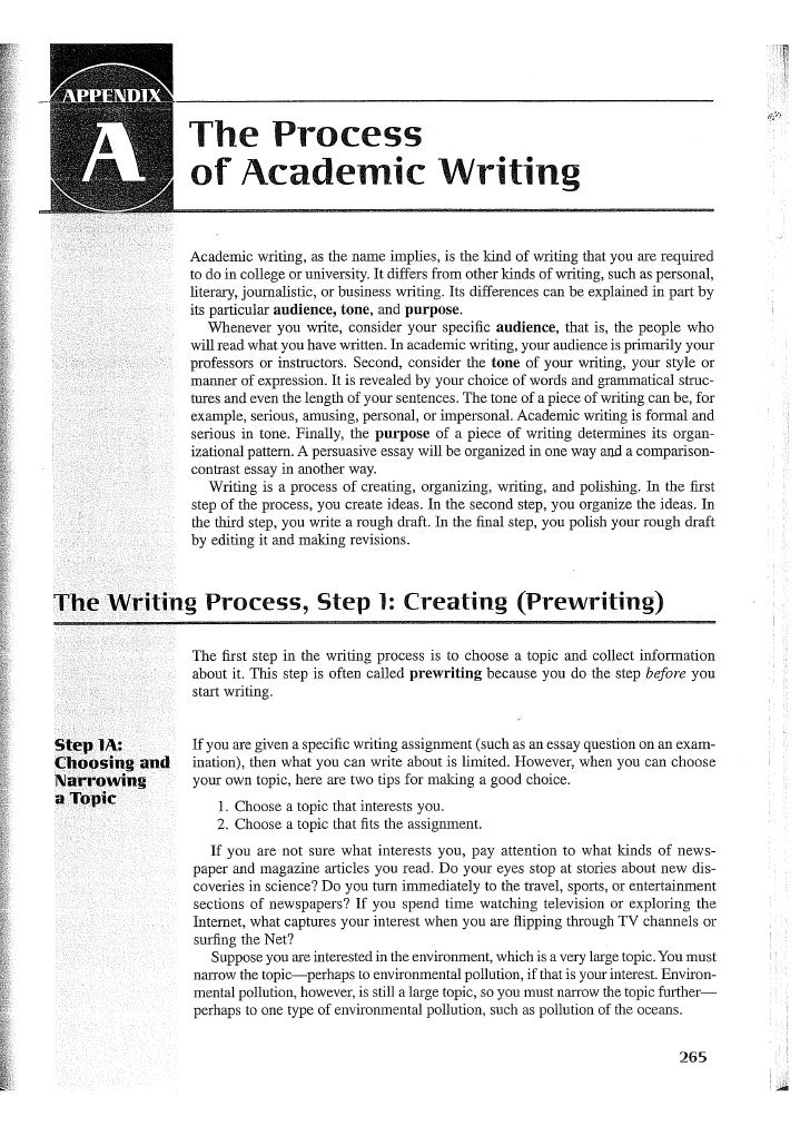 appendix in essay writing