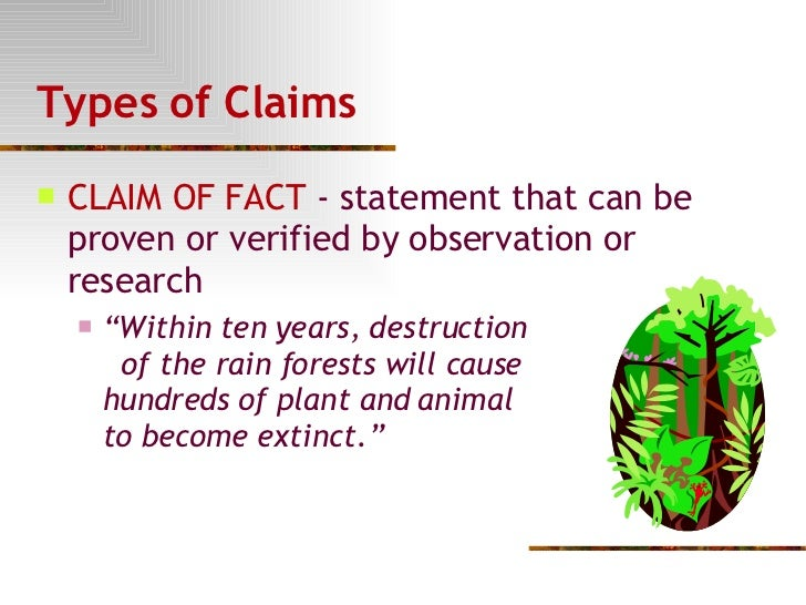 Claim of fact essay