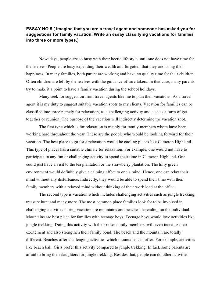 my best vacation essay