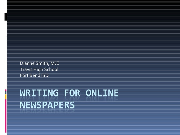 Writing For Online Newspapers1