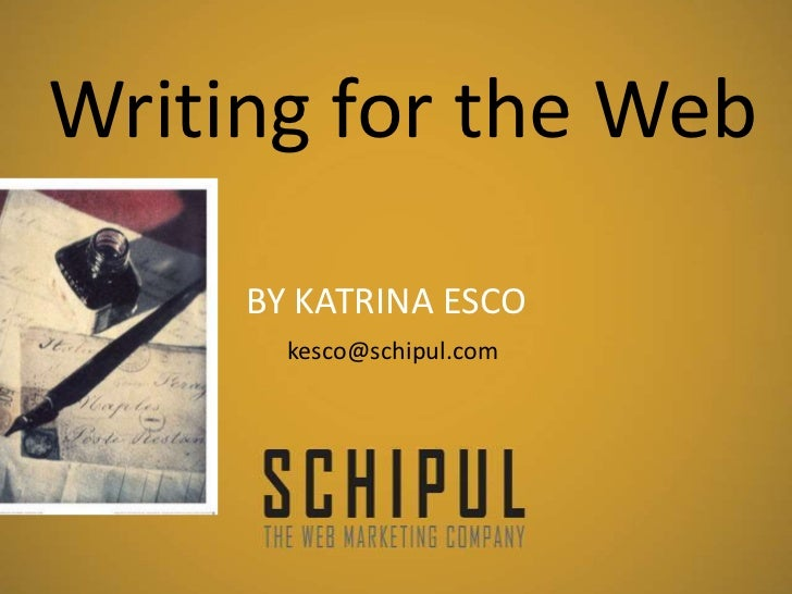 Writing for-the-web-schipul-kesco