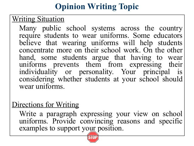 Argumentative Essay on School Uniforms: For and