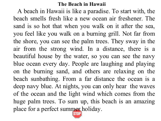 Descriptive Essay About the Beach