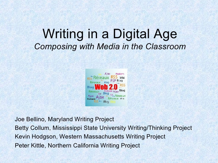 Writing In A Digital Age    Intro Pp