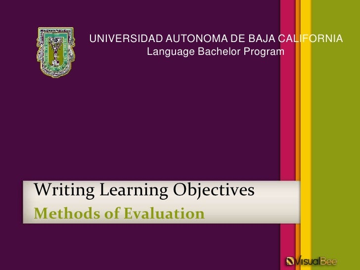 Writing Learning Objectives   (shared using VisualBee)